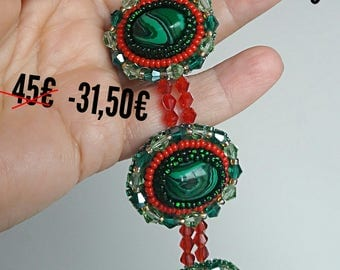 SALE Bracelet with malachite