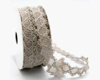 Natural linen lace