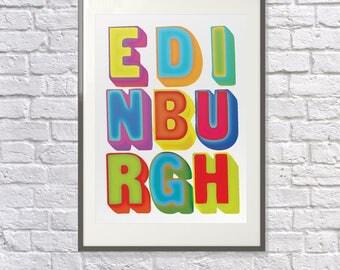 Edinburgh Poster - Edinburgh Art  - Edinburgh Print - Edinburgh Fringe - Edinburgh Souvenir - Edinburgh Memento Edinburgh Scotland