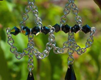 Handmade Swarovski chandelier earrings
