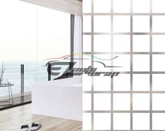 frosted square glass film home bathroom window privacy sticker