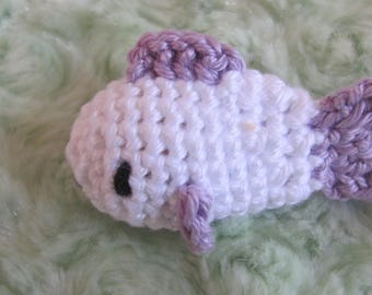 Fish crochet covered wooden bead