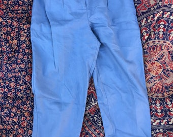 PLEATED!! Periwinkle linen trousers