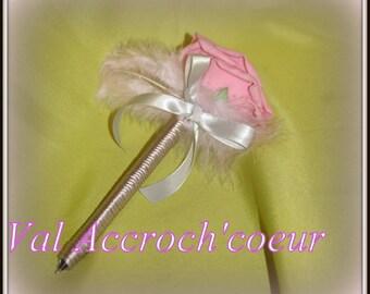 Romantic guest book pen