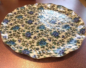 "Stunning 17"" Vintage Hardy Glenwood Fab Fibreglass Serving Tray Plate Mid Century"