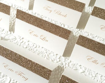 Glitter place card for your wedding reception 10pc