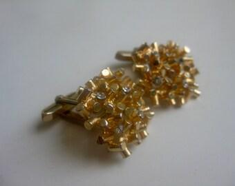 Org 70 he j. cuff links - elegant-gold + glitter