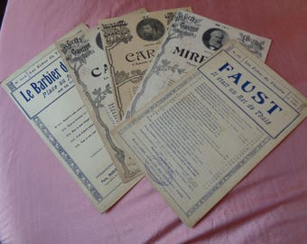 Lot 7. Five Vintage French Popular Art Deco Sheet Music Scores 1920, 1930s.