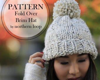 Hat Knitting Pattern / Knit Beanie / Chunky Pom Pom Hat / Chunky Knit Hat Pattern / Beanie Pattern