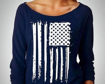 15% off this week American flag Sweatshirt / flag Tee / fourth of july / july 4th shirt
