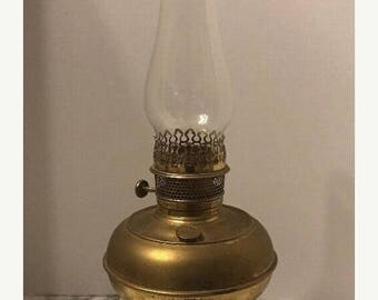 ON SALE Vintage Antique Old Rayo Metal Oil Kerosene Lamp Lantern Brass