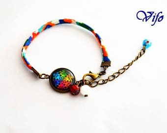 "Adjustable liberty bracelet ""Spirales"""