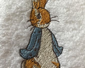 Peter rabbit boys hooded bath towel