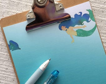 Summer Mermaid Writing Paper-Stationery -Note Paper