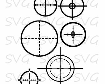 Cross Hair Set svg, dxf, fcm, eps, and png.