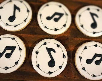 Music Note Decorated Sugar Cookies