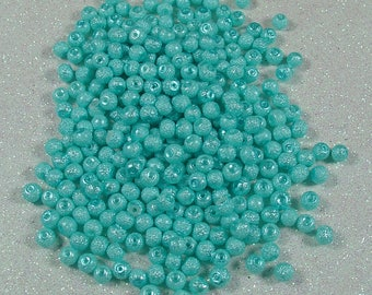 SURFACE OF MOONSTONE 4MM TURQUOISE ROUND BEAD