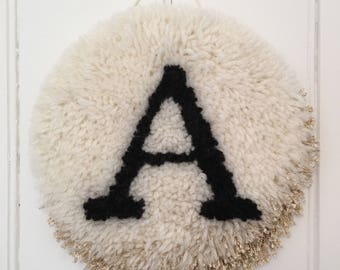 Personalised Monogrammed Shaggy Wall Hanging
