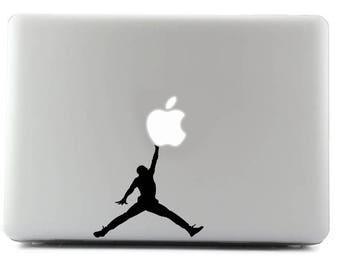 Air Jordan, Basketball, MacBook Decal, Laptop Sticker, MacBook, Viny Sticker, Apple Sticker, Custom Sticker, Personal Laptop
