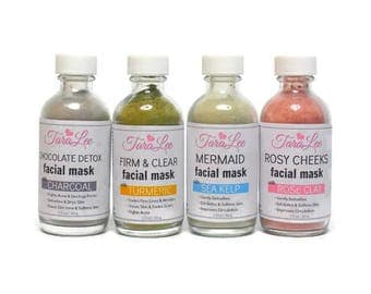 Face Mask Samples - Try them all! Rose Clay, Charcoal, Matcha, Turmeric Facial Mask