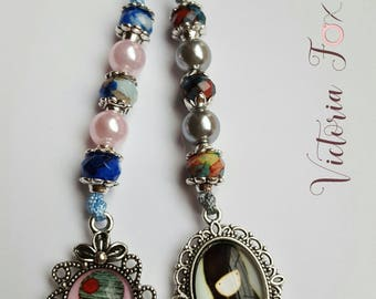 Blythe Doll Custom Pull Charms Pull Strings Round Beads 12 MM Cabochons
