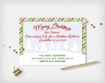 christmas lunch invitation