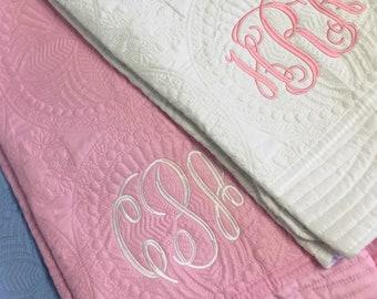 Monogram Baby Quilt