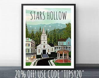 Digital Download - STARS HOLLOW -  Inspired by Gilmore Girls