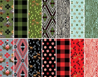 Fabric bundle-HOLIDAY HOMIES-by Tula Pink for Free Spirit fabrics-14 pieces