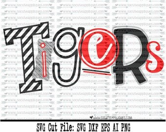 Tigers SVG, Cut file, Cheer svg, School spirit, socuteappliques, SvG Sayings, football svg, football sister svg, football mom svg