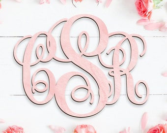 """Fast 24"""" 3 Letter Wooden Monogram Unpainted OFFICE 24 inch Wooden Monogram SALE monogram decoration personalized custom wall hanging"""