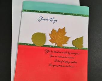 Good-Bye Card