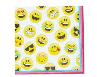 emoji Large Napkins, Emoji Party