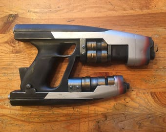 Custom Painted Guardians of the Galaxy Star-Lord Quad Blaster prop.