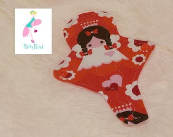 """7"""" Thong Liner Angel Jersey CSP Cloth pad (2"""" snapped) thin discrete fleece back daily liner"""