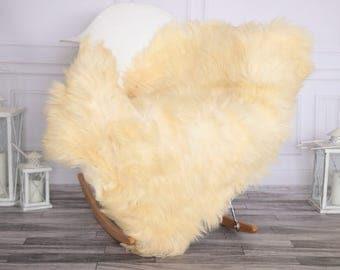 Sheepskin Rug | Real Sheepskin Rug | Shaggy Rug | Chair Cover | Sheepskin Throw | Ivory Sheepskin | CHRISTMAS DECOR | #NOVHER45