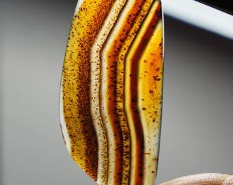 Montana Agate Freeform Cabochon 55 X 23 mm