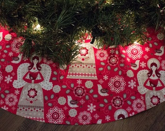 Grey tree skirt etsy - Decorative trees with red leaves amazing contrasts ...