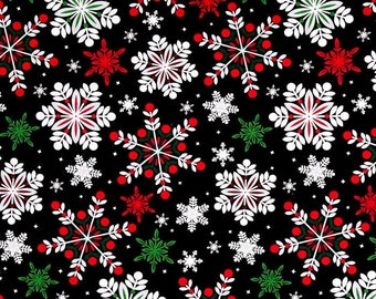 Christmas Tree Skirt-Snowflake Tree Skirt-Black-Red-Silver-Green-Holiday Decor-Snow-Tree Skirt-Christmas Decoration- 42""