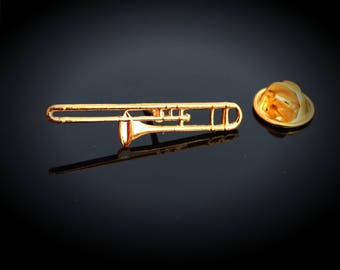 Trombone Pin Badge