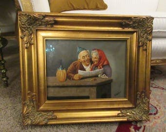 ORIGINAL PAINTING of Man and Woman