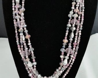 "20"" Swarovski crystal and Czech glass necklace"