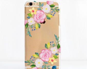 Summer Floral - Transparent Snap On Phone Case, Dessi Designs