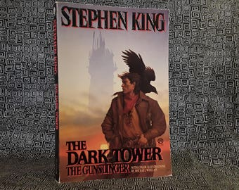 Stephen King THE GUNSLINGER 1988 First Plume Printing Vintage Paperback Book Horror The Dark Tower Series, Randall Flagg