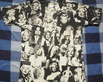 ON SALE 26% Vintage Marilyn Monroe 90s 80s Rare Mosquitohead T Shirt