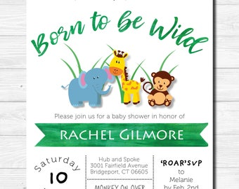 Born To Be Wild _ Baby Shower Invite