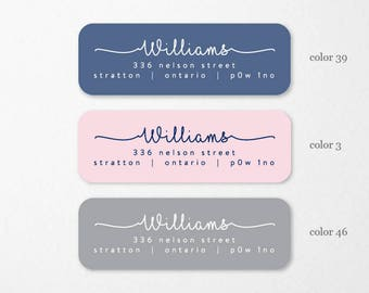 Personalized Return Address Labels, Custom Self-Adhesive Labels, Return Address Stickers, Return Address, Return Labels, RAL9
