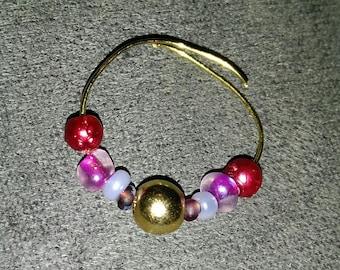 Gold beaded ring