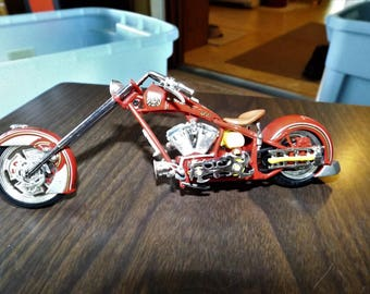 Vintage, American Chopper, Orange County Choppers, Diecast, 1/10 Scale, Gift for Him, OCC bike, Display, Firemans Gift, Fire Fighter gifts