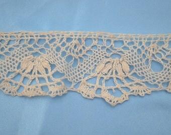 coupon braid lace antique Ecru 40mm